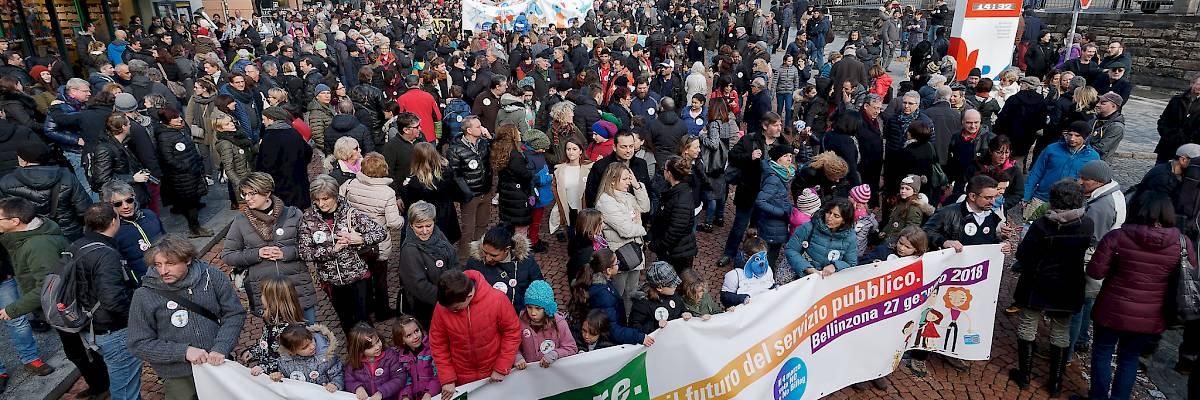 Successo della manifestazione contro l'iniziativa No Billag